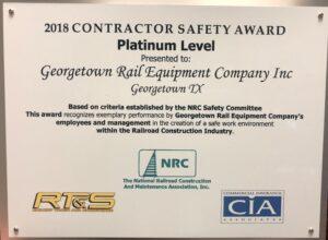 GREX Platinum Safety Award