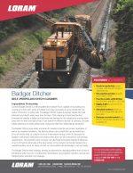 Badger Ditcher Spec Sheet