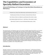 The Capabilities and Economics of Specialty Ballast Excavation