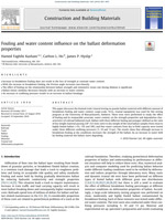 Fouling and Water Content Influence on the Ballast Deformation Properties