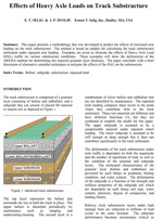 Effects of Heavy Axle Loads on Track Substructure