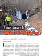 A muddy situation in the Gould Tunnel