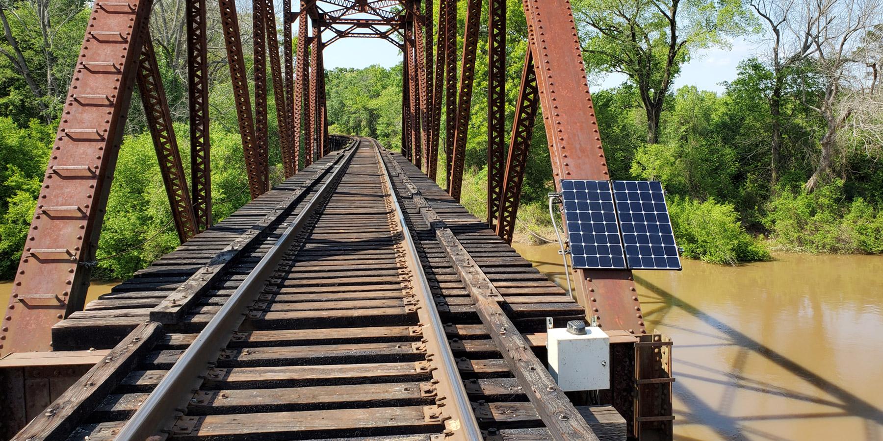 Railway with panel
