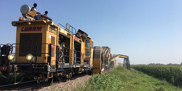 LORAM cart on rail